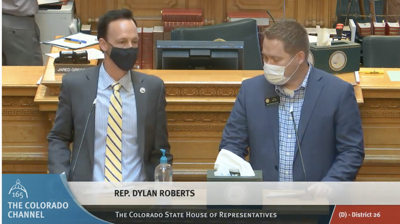 Reps. Dylan Roberts and Kyle Mullica