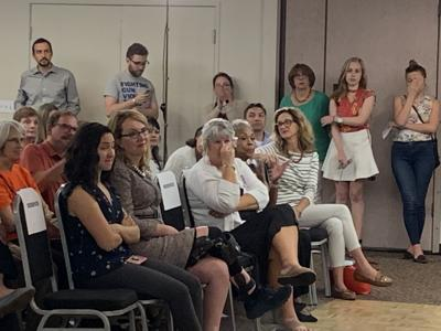 Former U.S. Rep. Gabby Giffords at Monday's gun safety town hall