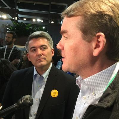 Colorado's U.S. senators, Cory Gardner (left) and Michael Bennet.