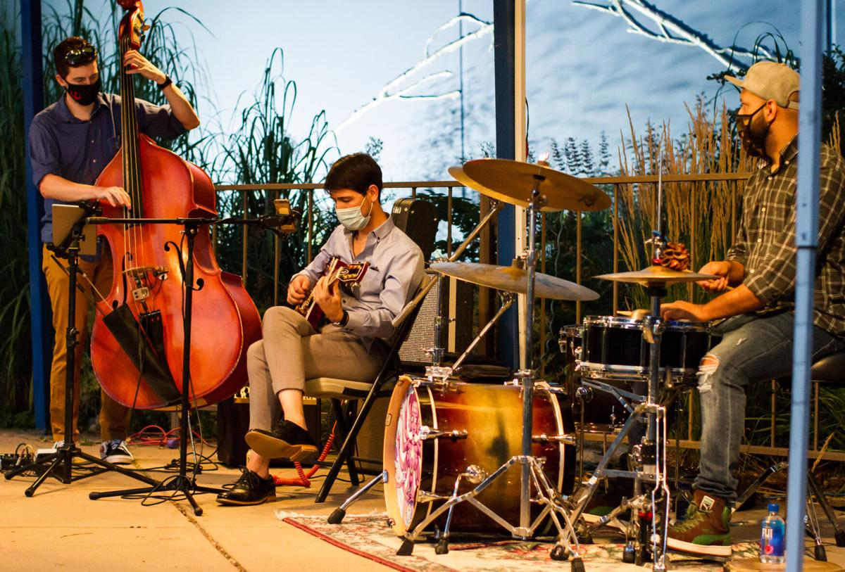 The Pierce Murphy Trio performs for the Arvada Center's Front Porch Music Series Photo by Leslie Simon.jpg