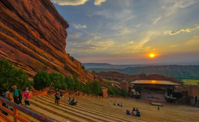 Red Rocks Amphitheater at dawn