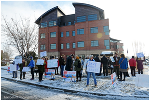 Protesters at BLM headquarters on Jan. 2, 2020