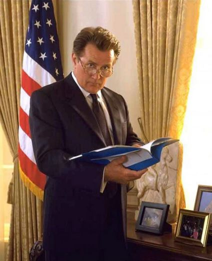 """Martin Sheen as President Josiah Bartlet in the first season of """"The West Wing."""""""
