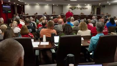The Brighton City Council meeting on Tuesday, July 16, 2019, at which council members narrowly voted to fire City Manager Philip Rodriguez.