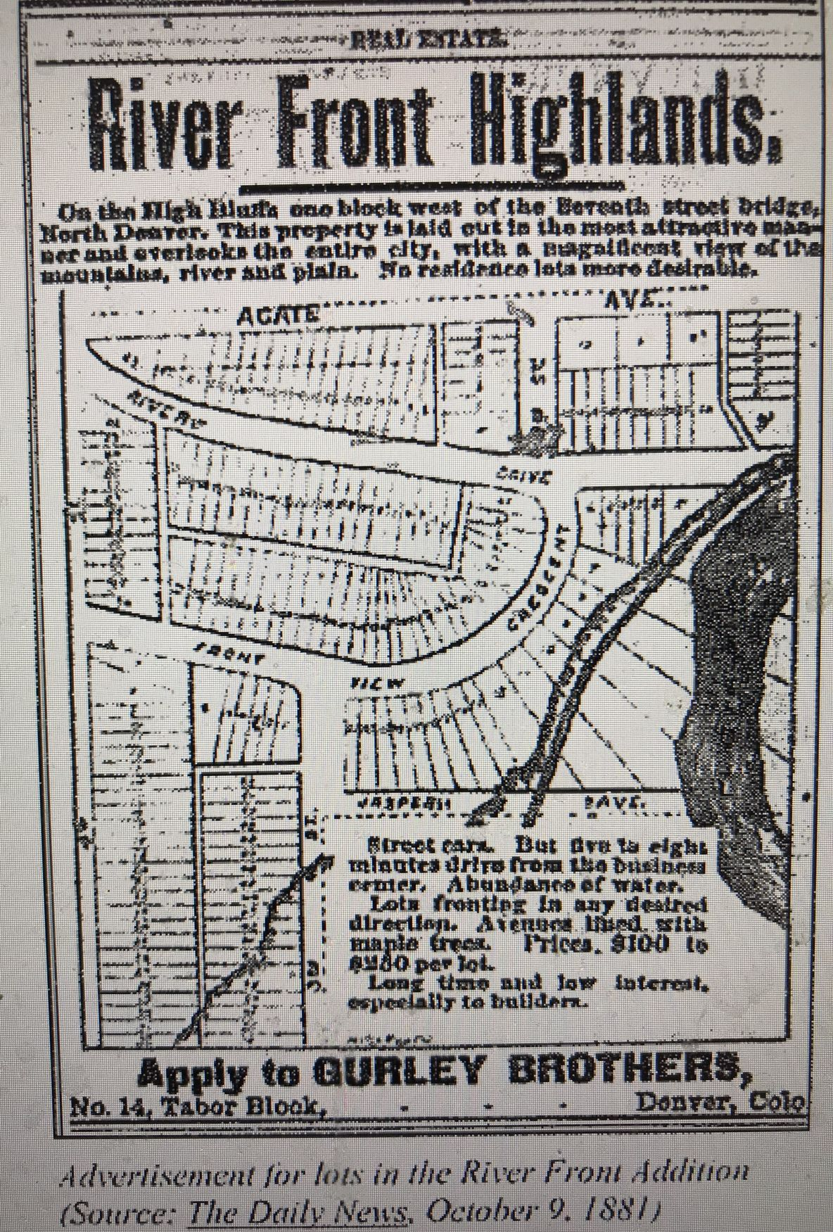 Advertisement for River Drive homes
