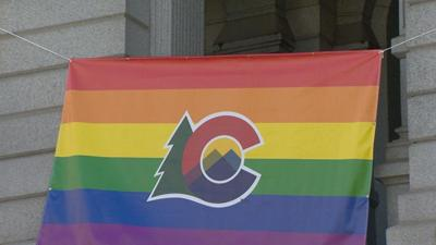 gay rpide flag capitol