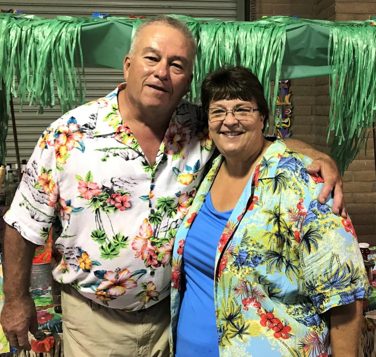 Mary and Louie at their 40th anniversary party, held over the Labor Day weekend in Safford, Ariz.