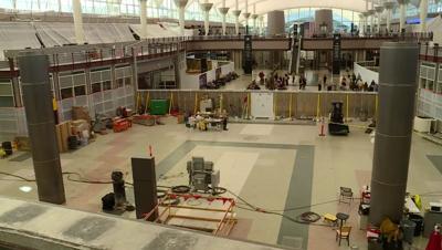 Renovation work at Denver International Airport