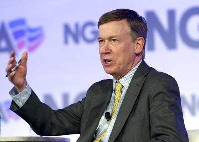 Hickenlooper says 'I'm going to run for president,' then waffles