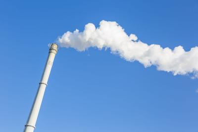 Exhaust smoke and air pollution greenhouse gas