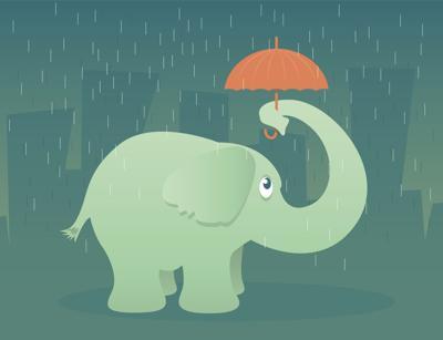 Elephant with Umbrella GOP Republican