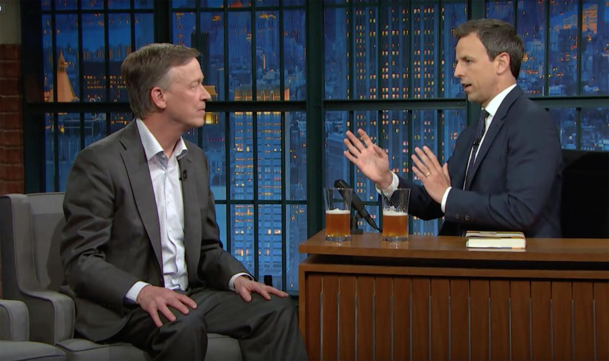 Hickenlooper Seth Meyers