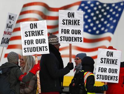 APTOPIX Denver Teachers Strike