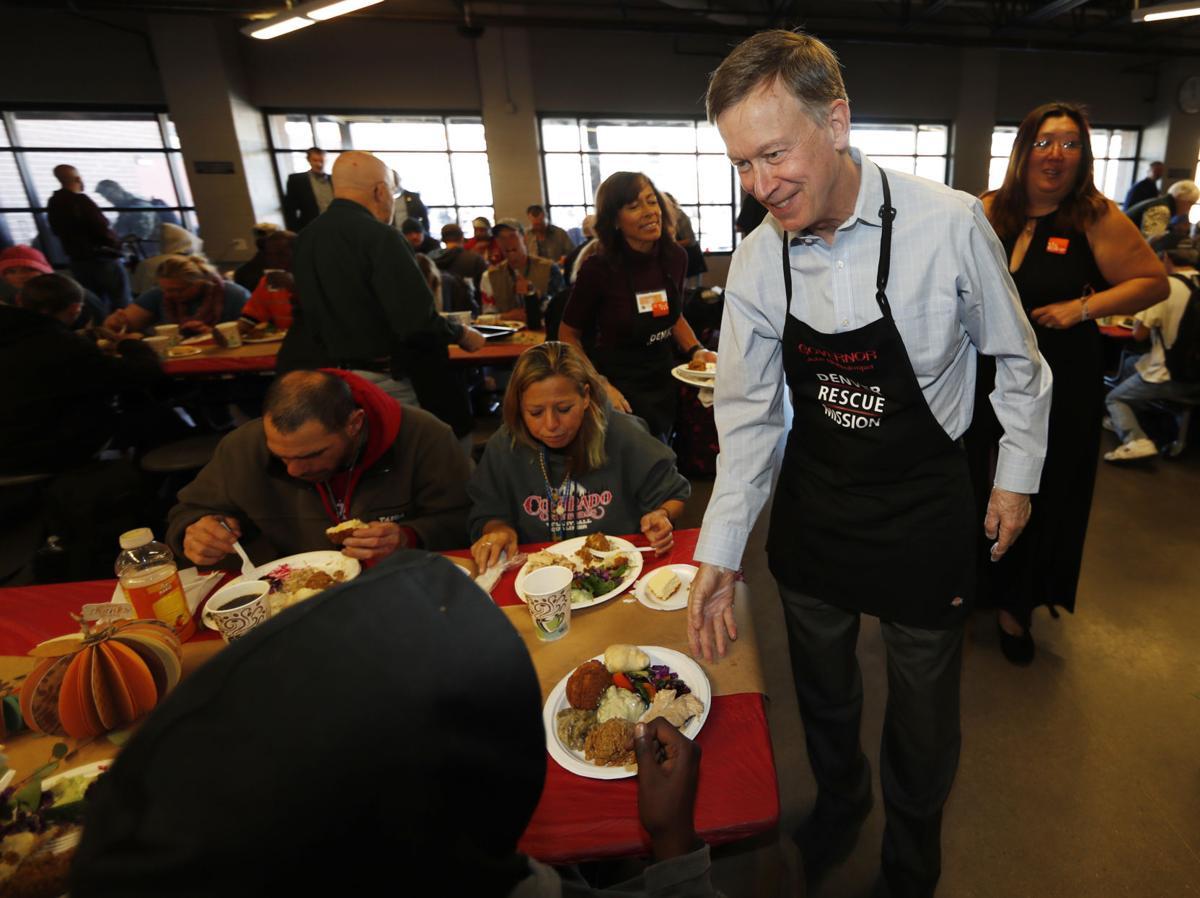 Thanksgiving Denver Rescue Mission John Hickenlooper