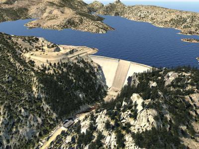 Rendering of Gross Dam current