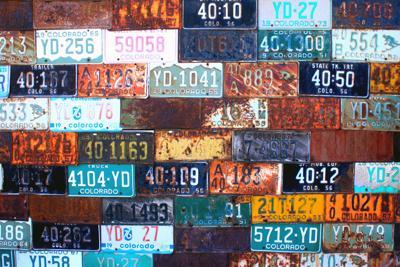 Colorado License Plate Wall