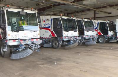 Dulevo-made street sweepers used by Denver Public Works.