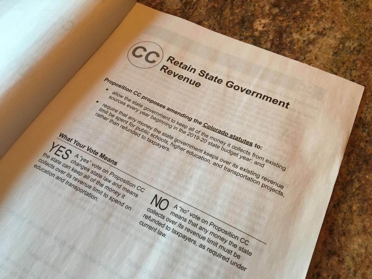 Proposition CC will appear on Colorado's Nov. 5 ballot.