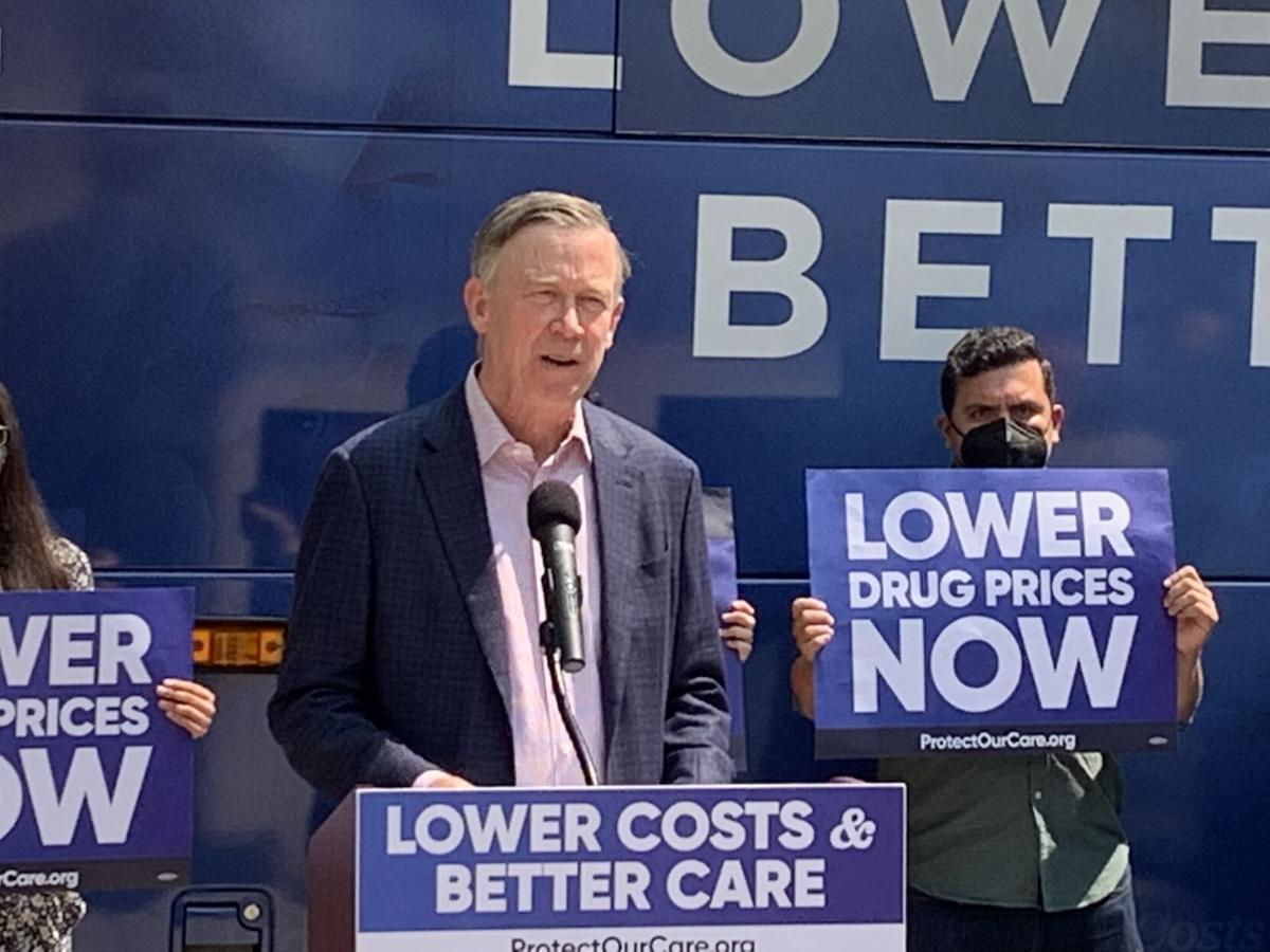 U.S. Sen. John Hickenlooper on Protect Our Care bus tour