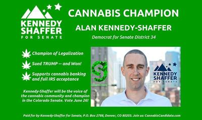 Democratic state Senate candidate Alan Kennedy-Shaffer targeting pot customers with campaign ads