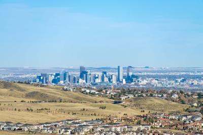 Panorama of Denver skyline