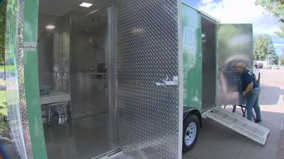 9News Homeless Shower Truck Denver