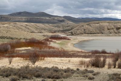 Low water in dry conditions Colorado Wolford Mountain Reservoir drought