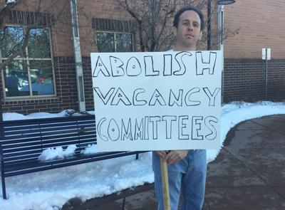 Russell Weisfield protests vacancy committees