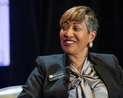 Sen. Angela Williams of Denver outlines Senate priorities at Chamber breakfast