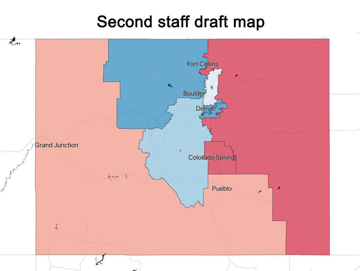 Second staff draft map