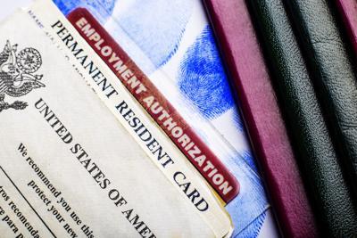 Passport and green card