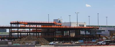 Concourse B-East construction at DIA 072420
