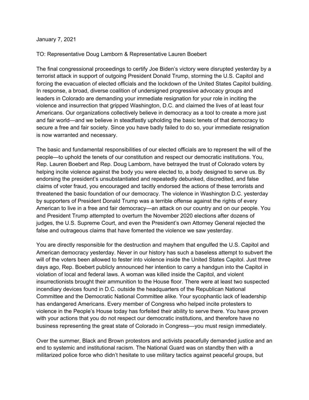 Letter to Boebert, Lamborn