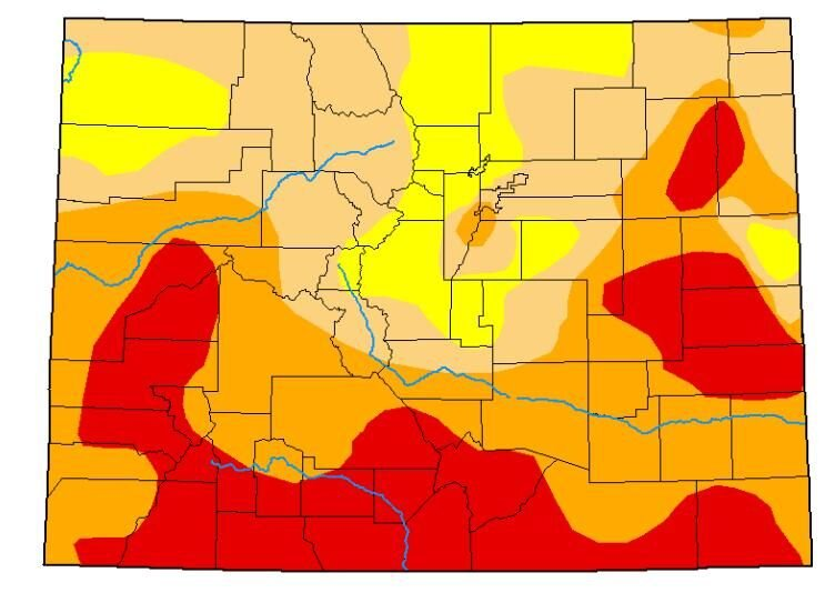 Colorado drought, August 4, 2020