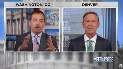 NBC's Chuck Todd interviews former Colorado Gov. John Hickenlooper