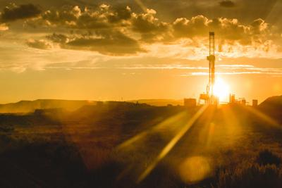 Drilling Rig at the Golden Hour Colorado oil gas