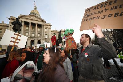 Denver Teachers Strike Rally