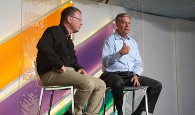 Hawkish Graham touts foreign-policy chops in Aspen