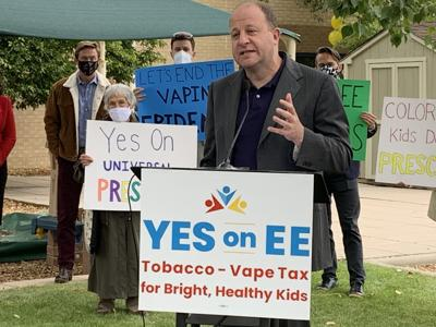 Gov. Jared Polis at Prop EE kickoff