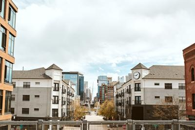 Modern developments in Lower Downtown Denver neighborhood