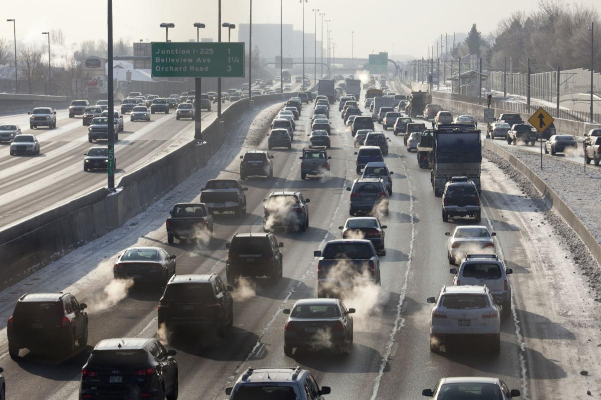 COVER STORY TRANSPORTATION  Interstate-25 traffic and exhaust fumes Denver Colorado