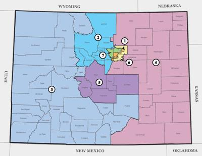 Colorado redistricting resolutions head to the ballot | News ... on printable map of colorado, interstate map of colorado, cities in dolores county colorado, san juan river colorado, map of western united states, map of four corners colorado, utah road map colorado, map of wyoming, simple road map of colorado, map of arizona, map of southwestern colorado, wyoming road map colorado, map of nevada, mountain road map colorado, map showing counties arizona, map of colorado new mexico, map of airports in colorado, confluence of green and colorado, city of hope colorado, map of colorado online,