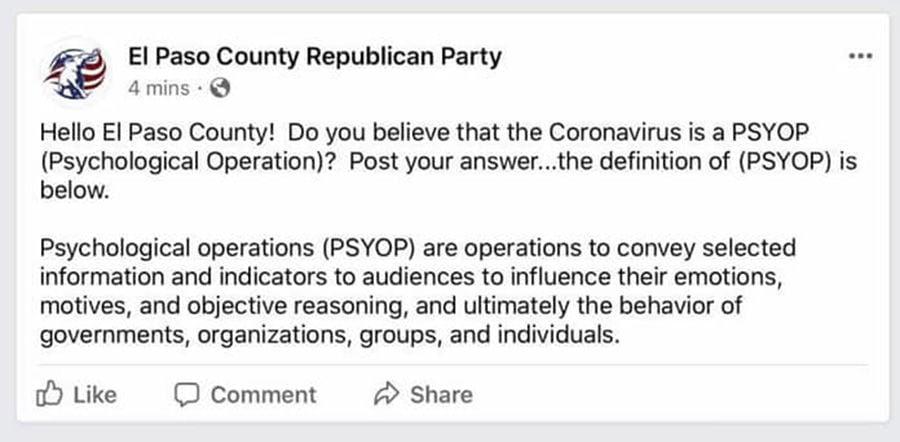 El Paso County Psyop