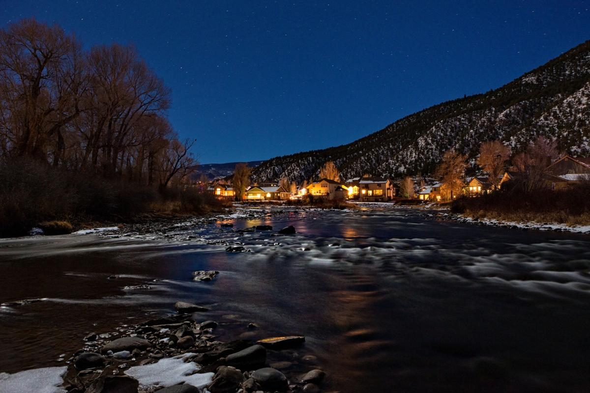 COVER STORY MANAGERS Gypsum Colorado Eagle River Dusk Lights Reflections