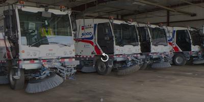 Dulevo-made street sweepers.