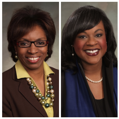 Sen. Rhonda Fields, left, and Rep. Leslie Herod.