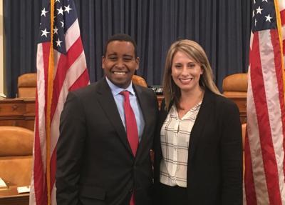 U.S. Reps-elect Joe Neguse (D-Boulder) and Katie Hill (D-California)
