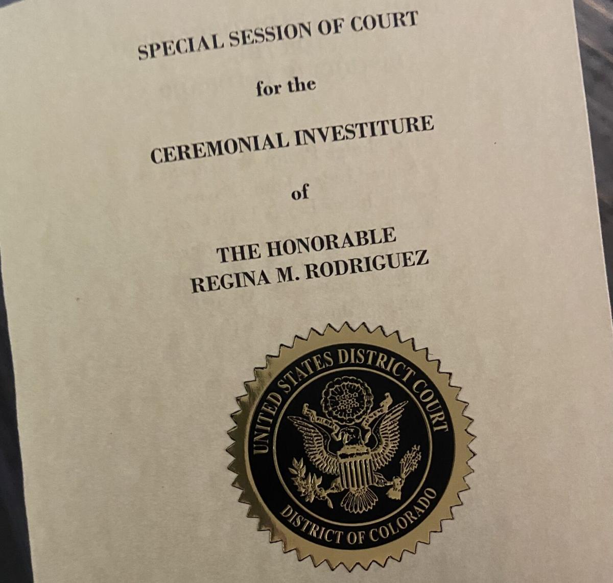 Regina Rodriguez investiture program