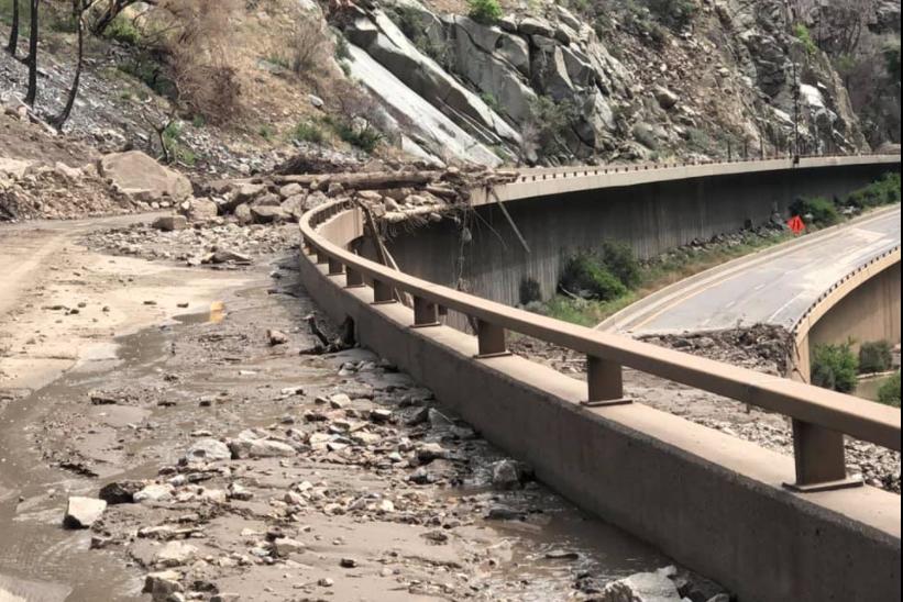 Glenwood Canyon damage #1