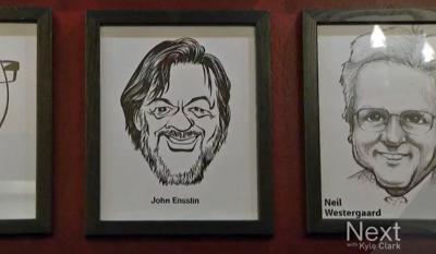 John C. Ensslin's caricature portrait